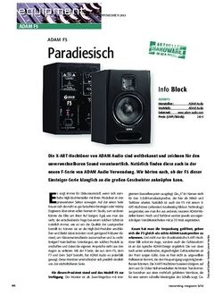 Recording Magazin Paradiesisch: ADAM F5