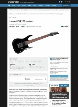 MusicRadar.com Ibanez RGIR27E