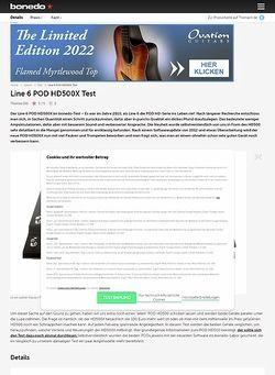 Bonedo.de Line 6 POD HD500X Test