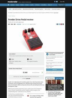MusicRadar.com Fender Drive Pedal