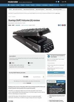MusicRadar.com Dunlop DVP3 Volume (X)