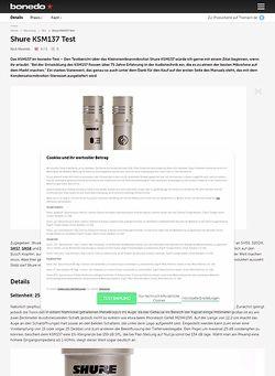 Bonedo.de Shure KSM137 Test