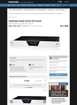 MusicRadar.com Antelope Audio Orion 32