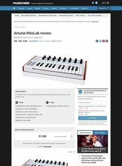 MusicRadar.com Arturia MiniLab