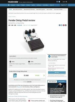 MusicRadar.com Fender Delay Pedal