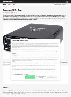 Bonedo.de Drawmer MC 2.1 Test