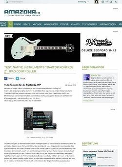 Amazona.de Test: Native Instruments Traktor KONTROL Z1, iPad Controller