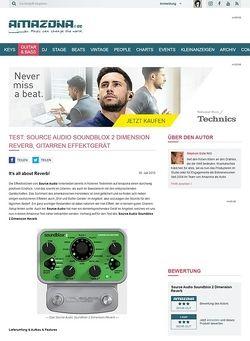 Amazona.de Test: Source Audio Soundblox 2 Dimension Reverb, Gitarren Effektgerät