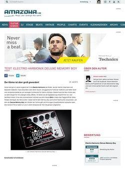 Amazona.de Test: Electro Harmonix Deluxe Memory Boy