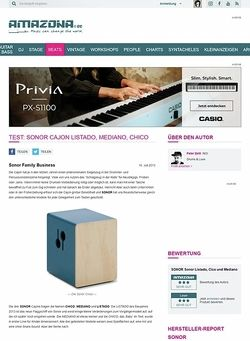 Amazona.de Test: Sonor Cajon LISTADO, MEDIANO, CHICO