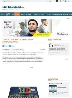Amazona.de Test: Soundcraft Si Expression, Digitalmischpult