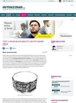 Amazona.de Test: Ludwig Black Beauty LB417KT Snare Drum