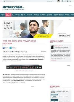 Amazona.de Test: BBE B MAX Bass Preamp Sonic Maximizer