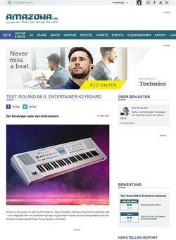 Amazona.de Test: Roland BK-3, Backing Keyboard