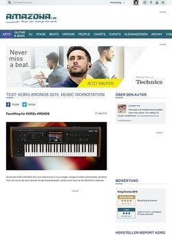 Amazona.de Test: Korg Kronos 2015, Music Workstation