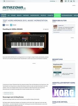 Amazona.de Test: Korg Kronos 2015, Music Workstation