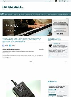 Amazona.de Test: AQVOX USB Low Noise Power Supply, Netzteil für USB Geräte