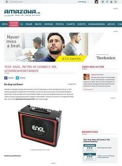 Amazona.de Test: Engl, Retro 50 Combo E 768, Gitarrenverstärker