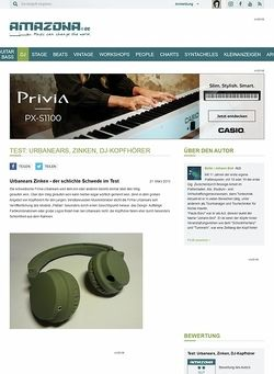 Amazona.de Test: Urbanears, Zinken, DJ-Kopfhörer