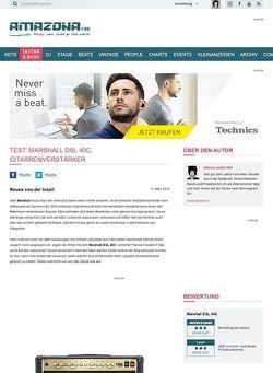 Amazona.de Test: Marshall DSL 40C, Gitarrenverstärker