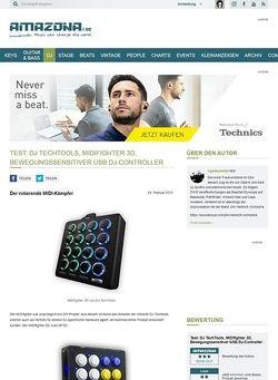 Amazona.de Test: DJ TechTools, MIDIfighter 3D, Bewegungssensitiver USB DJ-Controller
