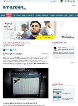 Amazona.de Test: Fender Mustang III V2, Gitarrenverstärker