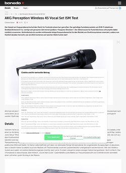 Bonedo.de AKG Perception Wireless 45 Vocal Set ISM Test