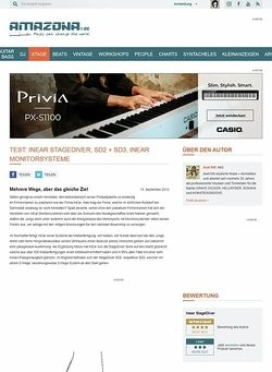 Amazona.de Test: InEar StageDiver, SD2 + SD3, InEar Monitorsysteme