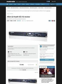 MusicRadar.com Allen & Heath ICE-16