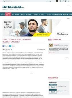 Amazona.de Test: ZOOM MS-100BT, Gitarren Multieffektgerät