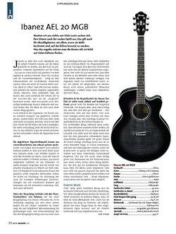 Guitar Test: Ibanez AEL 20 MGB