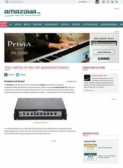 Amazona.de Test: Ampeg PF-800 Top, Bassverstärker