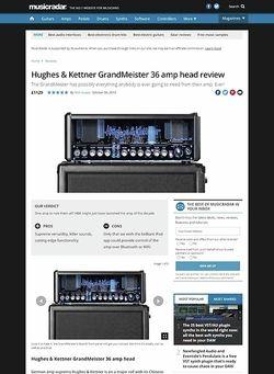 MusicRadar.com Hughes & Kettner GrandMeister 36 amp head