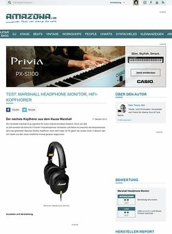 Amazona.de Test: Marshall Headphone Monitor, Hifi-Kopfhörer