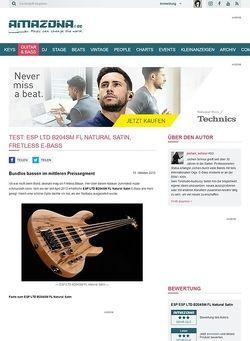 Amazona.de Test: ESP LTD B204SM FL Natural Satin, Fretless E-Bass