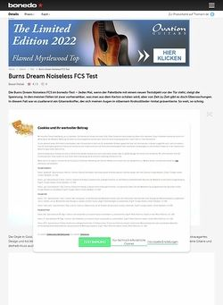 Bonedo.de Burns Dream Noiseless FCS Test