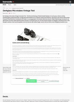 Bonedo.de Darkglass Microtubes Vintage Test