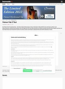 Bonedo.de Palmer Fab 5 Test