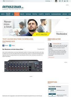 Amazona.de Test: Alesis MultiMix 10 Wireless, Rackmischer