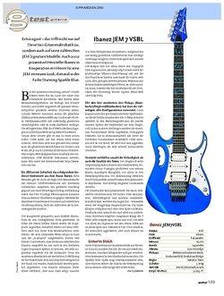 Guitar Test: Ibanez JEM 7 VSBL
