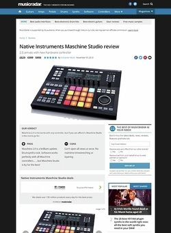 MusicRadar.com Native Instruments Maschine Studio
