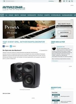 Amazona.de Test: Event Opal, aktiver Nahfeldmonitor