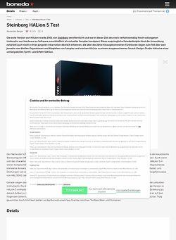 Bonedo.de Steinberg HALion 5 Test