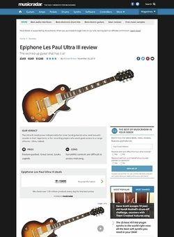MusicRadar.com Epiphone Les Paul Ultra III