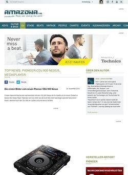 Amazona.de Top News: Pioneer CDJ 900 Nexus, Mediaplayer