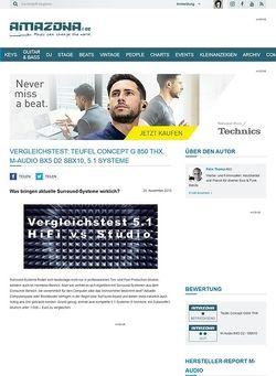 Amazona.de Vergleichstest: Teufel Concept G 850 THX, M-Audio BX5 D2 SBX10, 5.1 Systeme