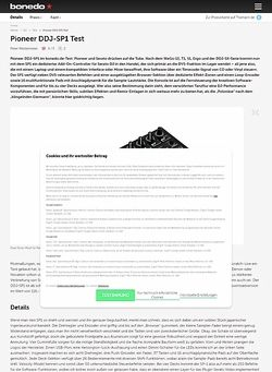 Bonedo.de Pioneer DDJ-SP1 Test