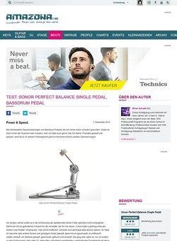 Amazona.de Test: Sonor Perfect Balance Single Pedal, Bassdrum Pedal