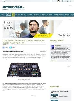 Amazona.de Test: Native Instruments Traktor Kontrol S4 MK2, DJ-Controller