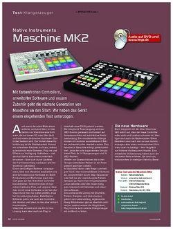 KEYS Native Instruments Maschine MK2